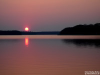 Sonnenuntergang am Gudelacksee